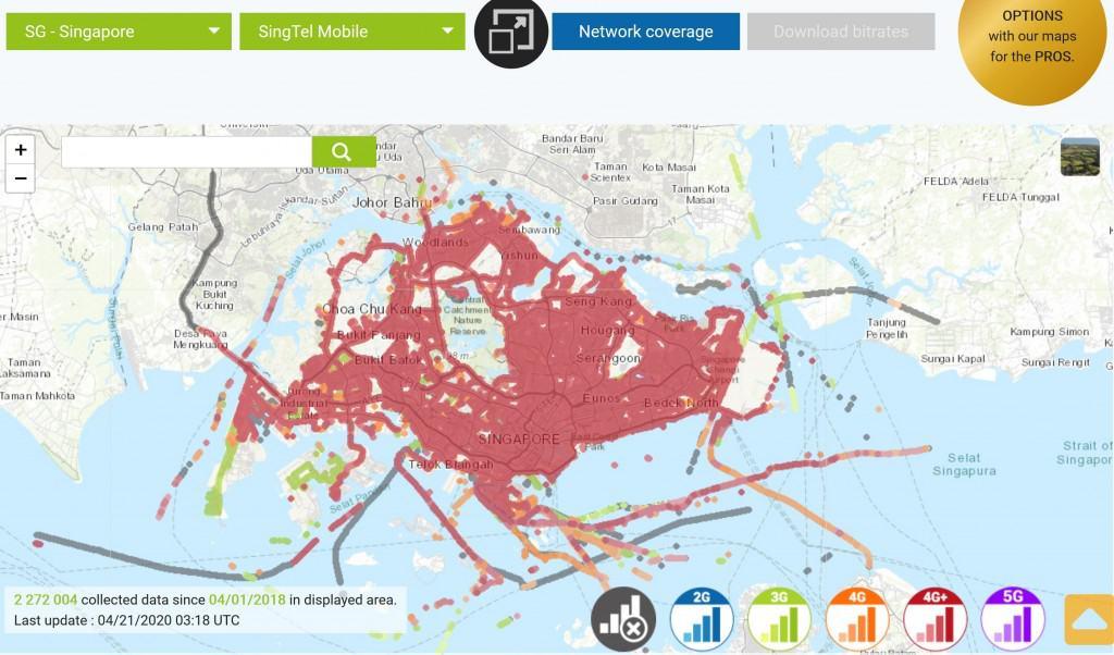 Singtel Coverage Map