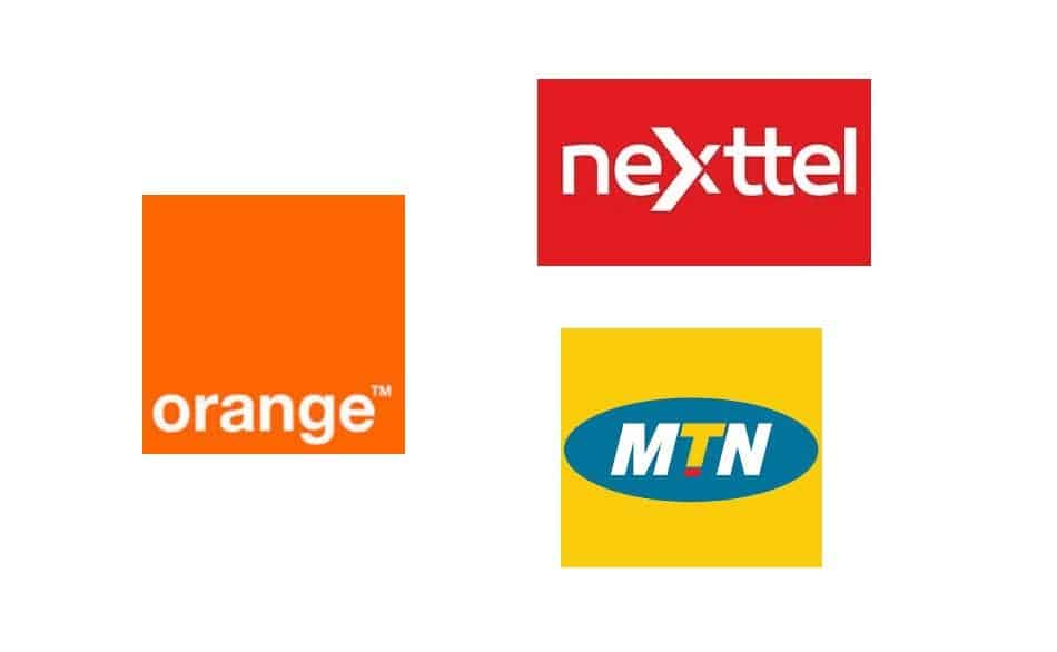 Logos of Telecom Operators in Cameroon: Orange Cameroon, MTN Cameroon, and Nexttel
