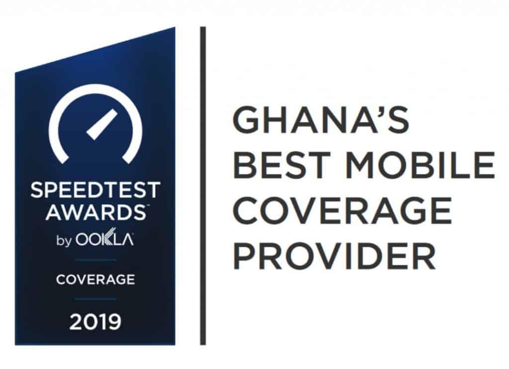 Ghana's Best Mobile Coverage Provider Speedtest Awards 2019