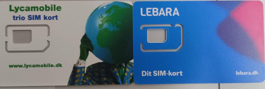 Lebara Denmark and Lycamobile Denmark SIM Cards