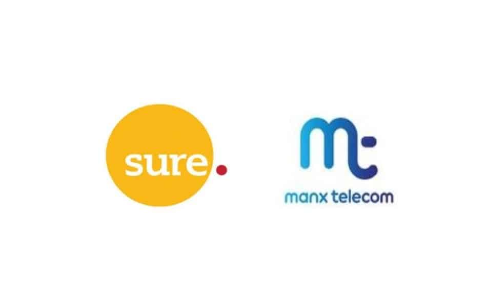Logos of Telecom Operators in the Isle of Man: Sure Isle of Man and Manx Telecom