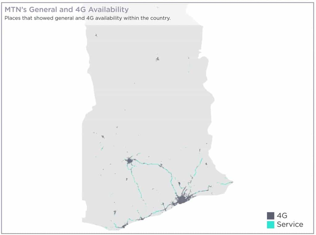 MTN Ghana General Availability Coverage Map