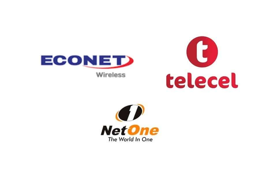 Logos of Telecom Providers in Zimbabwe: Econet, Telecel Zimbabwe, and NetOne