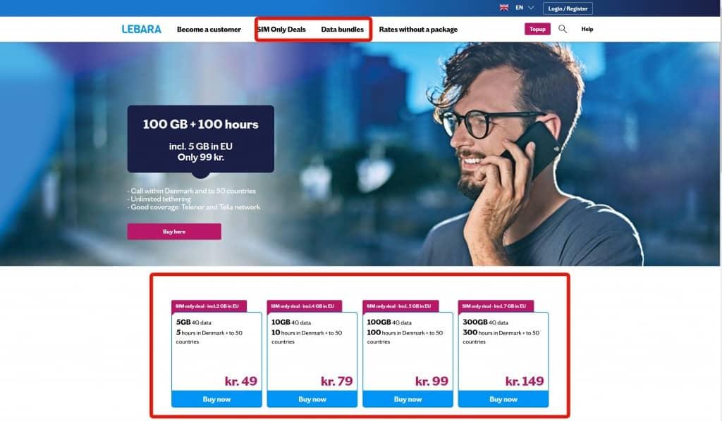 Lebara Denmark SIM card purchase steps