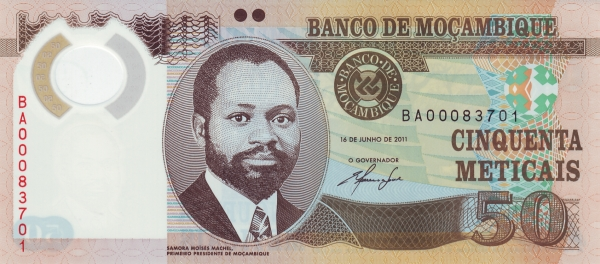 50 Mozambican Metical Bank Note