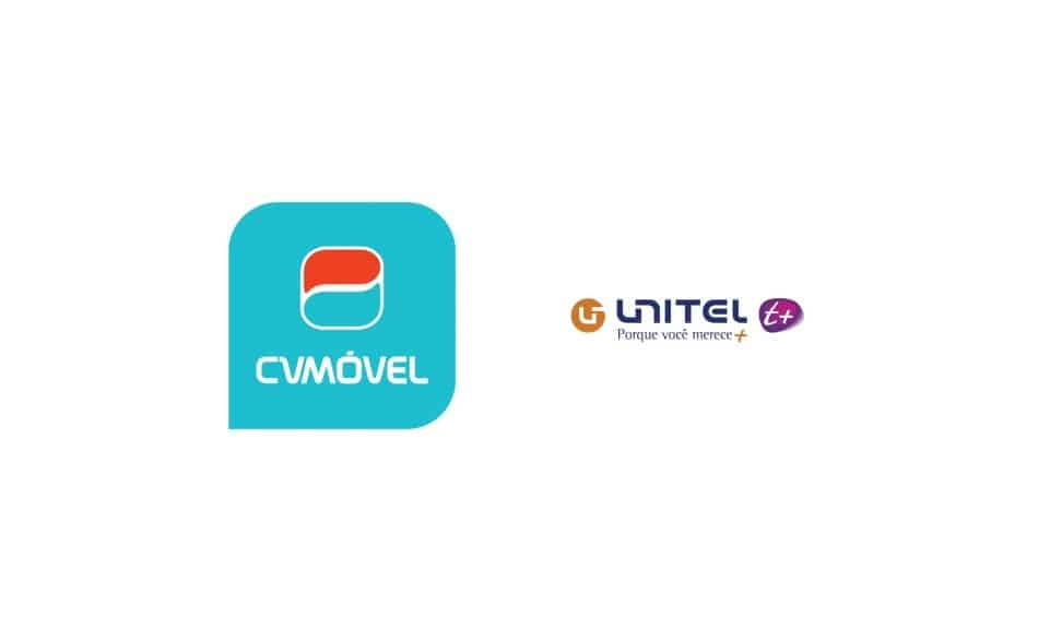 Logos of Telecom Operators in Cape Verde: CV Móvel & Unitel T+