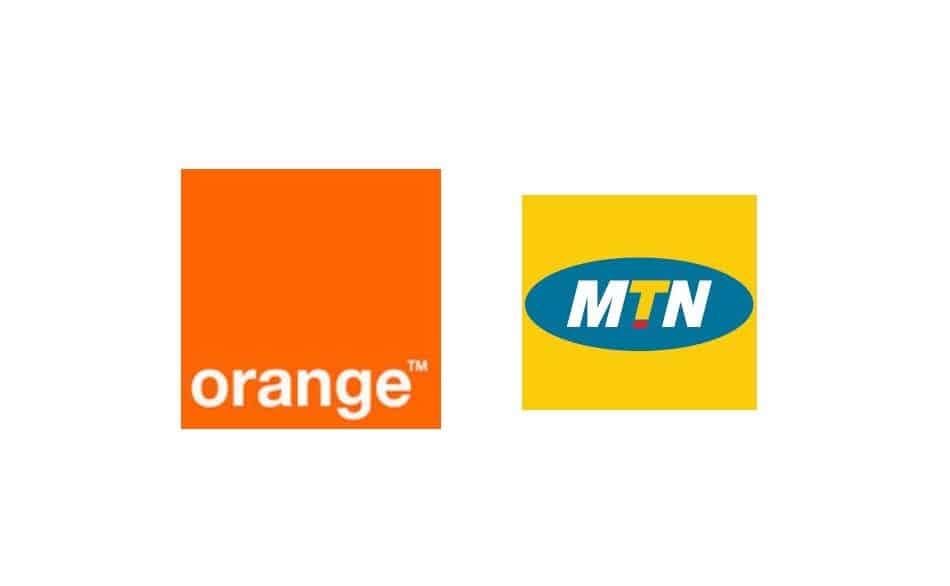 Logos of Telecom Operators in Guinea-Bissau: Orange Guinea-Bissau & MTN Guinea-Bissau