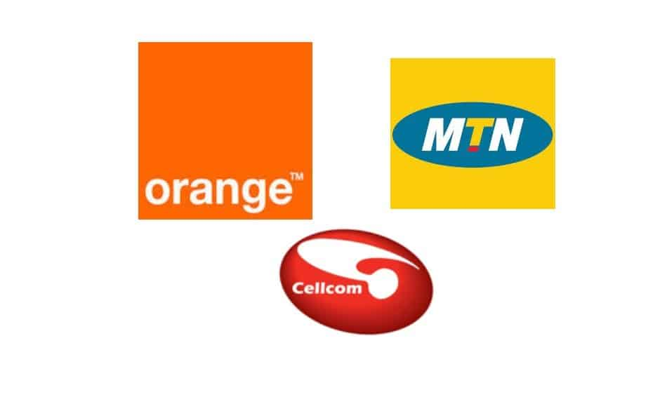 Logos of Telecom Operators in Guinea: Orange Guinea, MTN Guinea & Cellcom Guinea