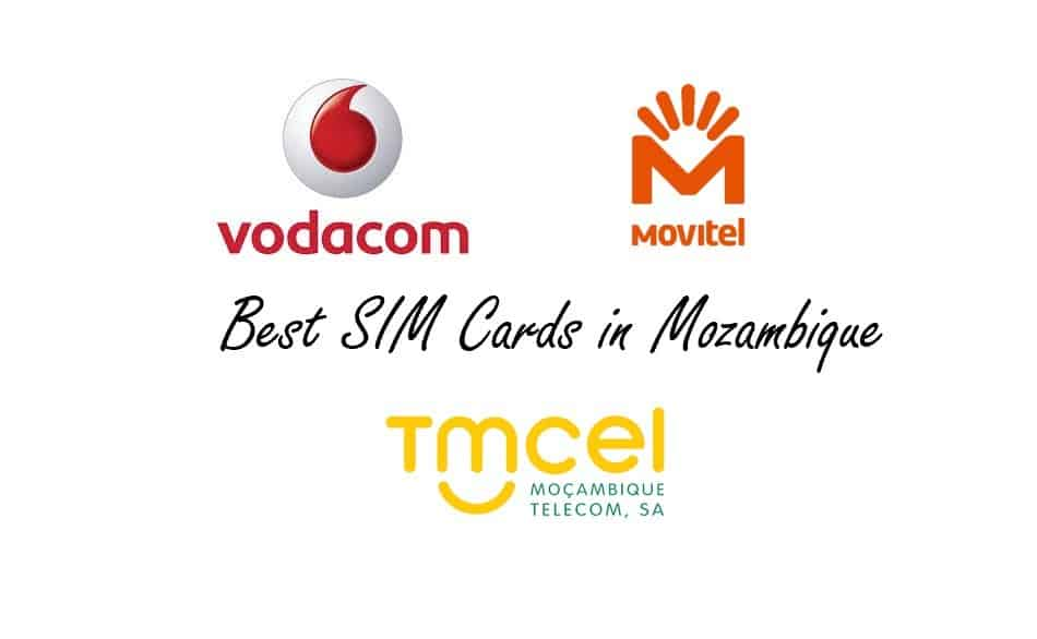 Logos of Telecom Operators in Mozambique: Vodacom Mozambique, Movital & TMCEL