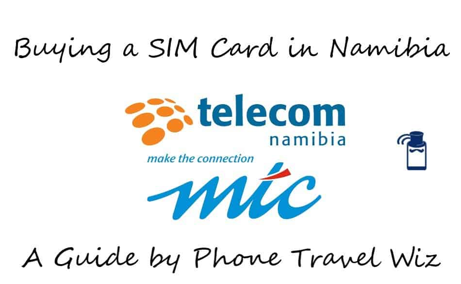 Buying a SIM Card in Namibia Guide (logos of Telecom Namibia & MTC)