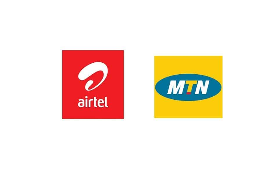 Logos of Mobile Operators in the Republic of the Congo: Airtel Congo & MTN Congo