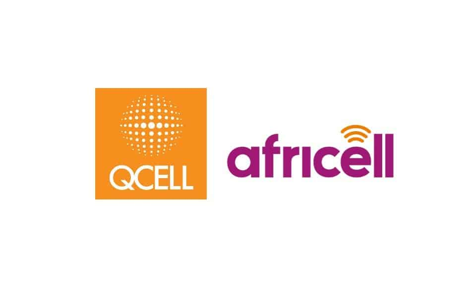 Logos of Telecom Operators in the Gambia: Qcell & Africell Gambia