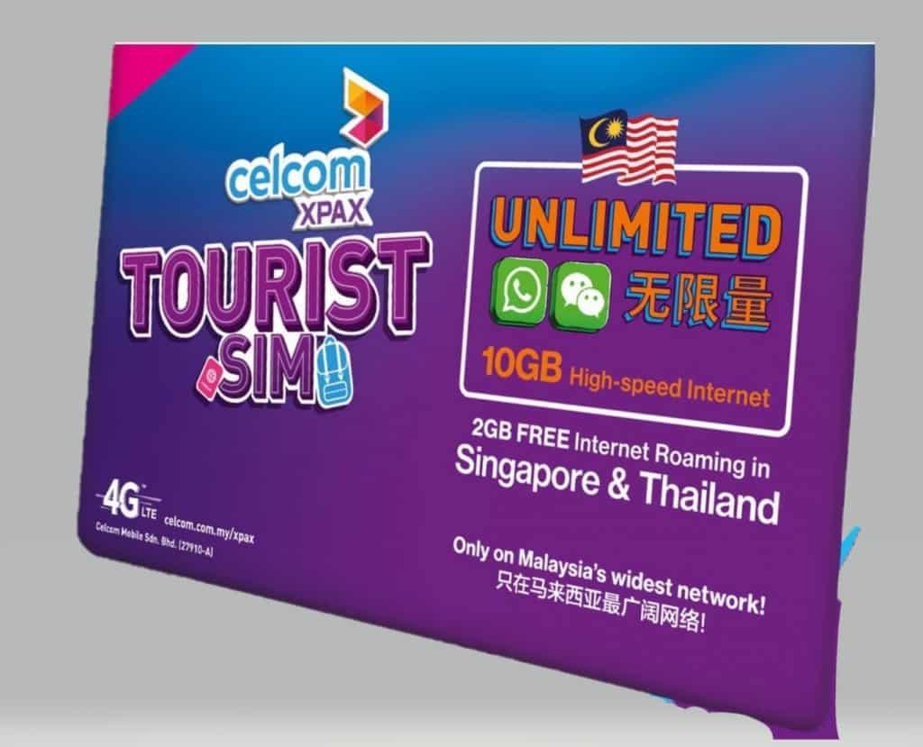 Celcom Tourist SIM Card