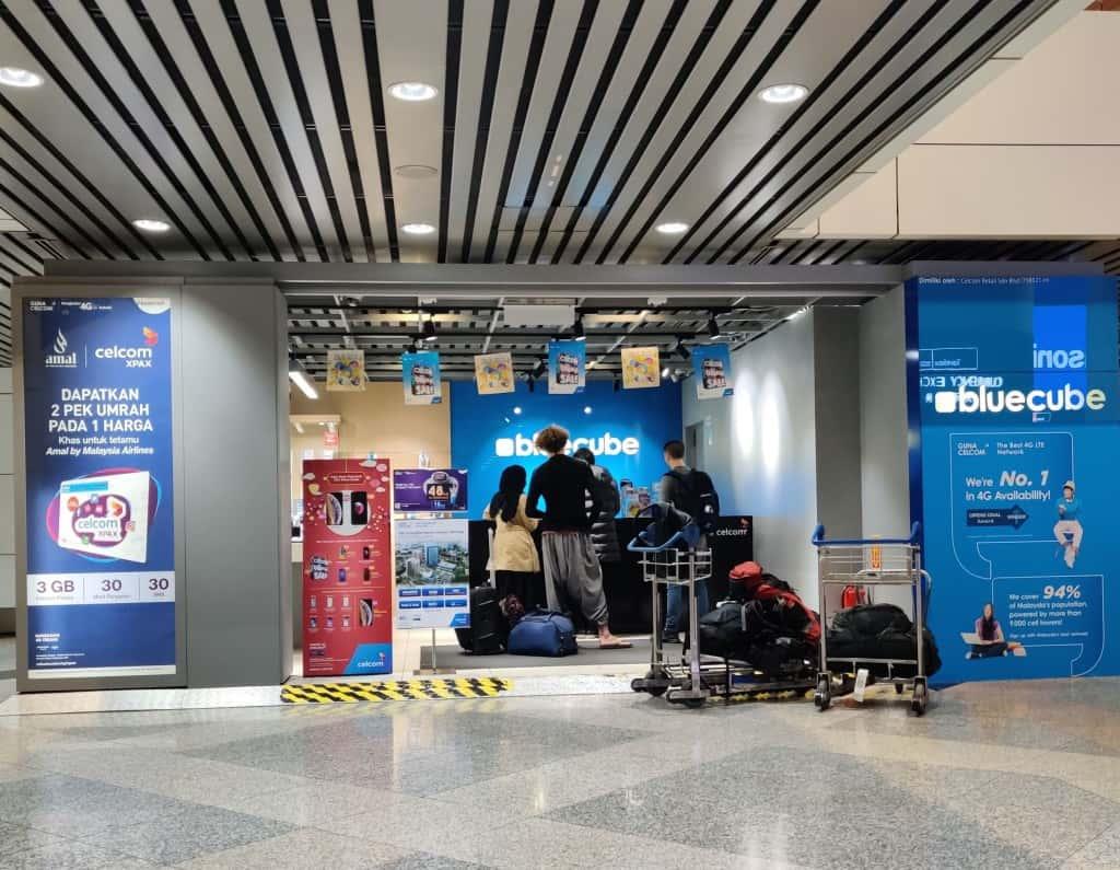 Celcom Bluecube at Kuala Lumpur International Airport