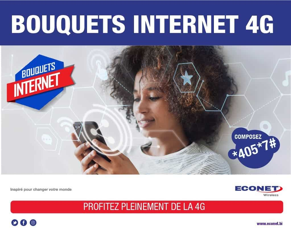 Econet Burundi 4G Packages (Bouquets 4G)