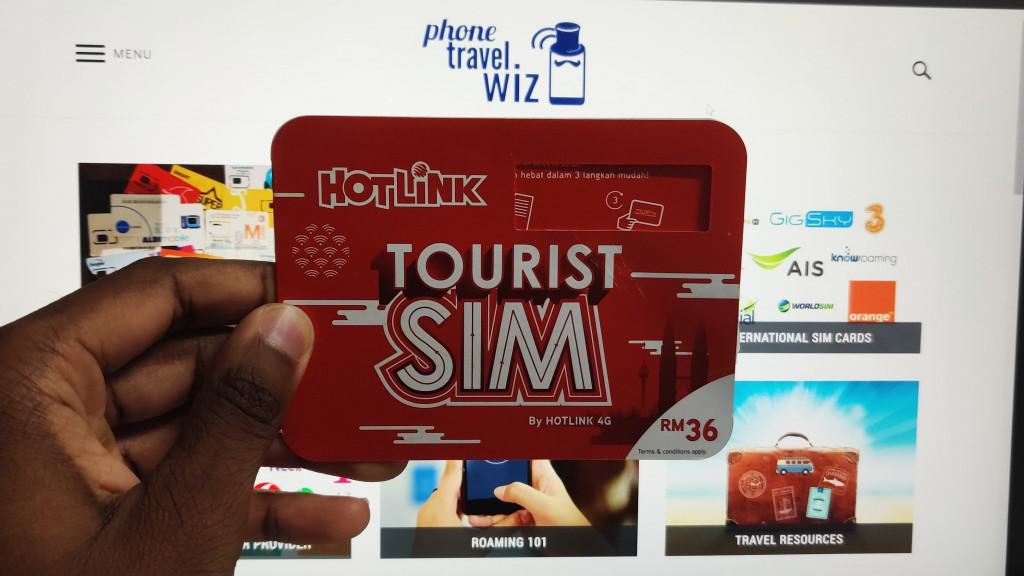 Hotlink Tourist SIM Card