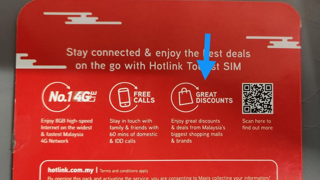 Hotlink Tourist SIM Perks