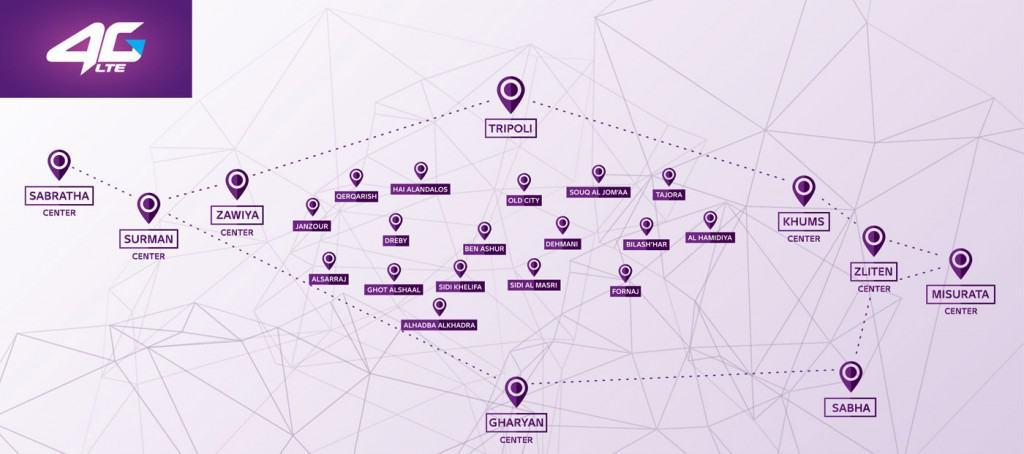 Libyana 4G map