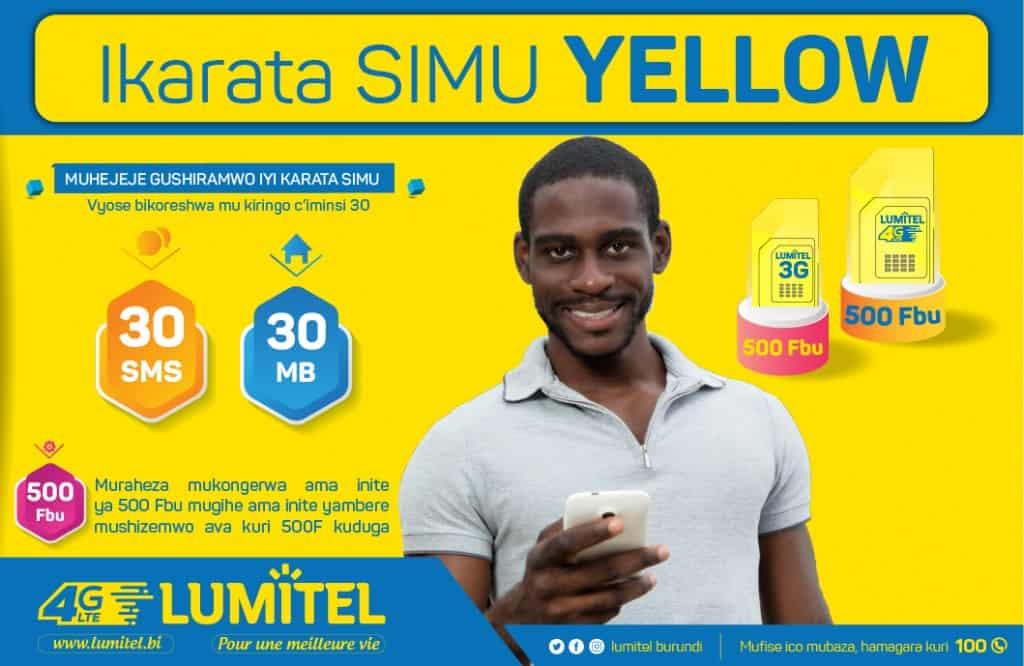 Lumitel Yellow SIM Card