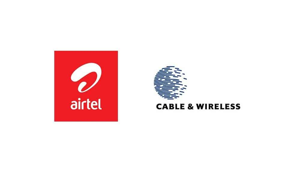 Logos of Telecom Operators in Seychelles: Airtel Seychelles and Cable & Wireless Seychelles
