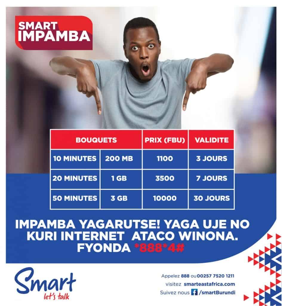 Smart Burundi Impamba Packages (Bouquets Impamba)