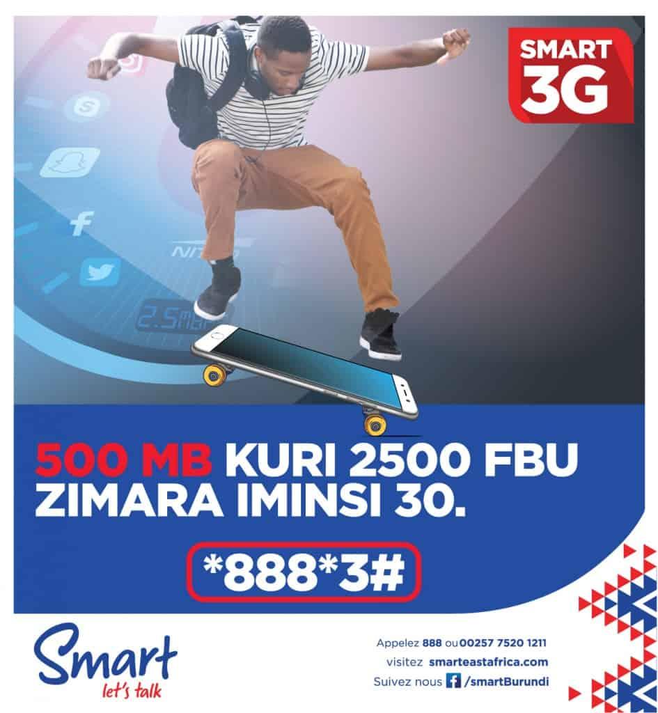 Smart Burundi Internet Packages (Bouquets Internet)