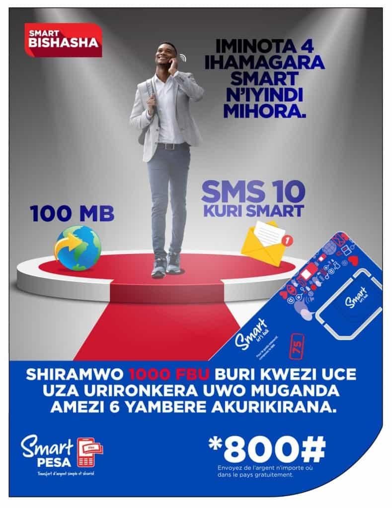 Smart Burundi SIM Card Promo Poster