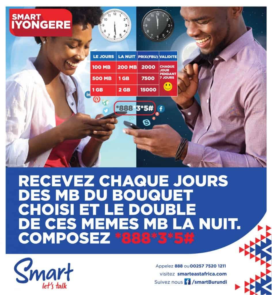 Smart Burundi Iyongere Packages (Boutuets Internet Iyongere)