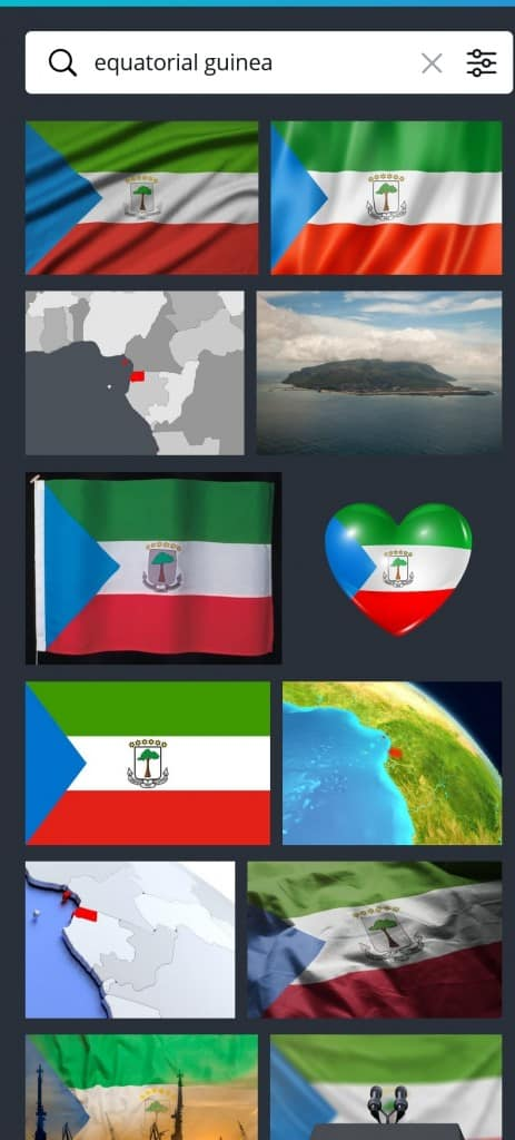 Canva Image Search for Equatorial Guinea