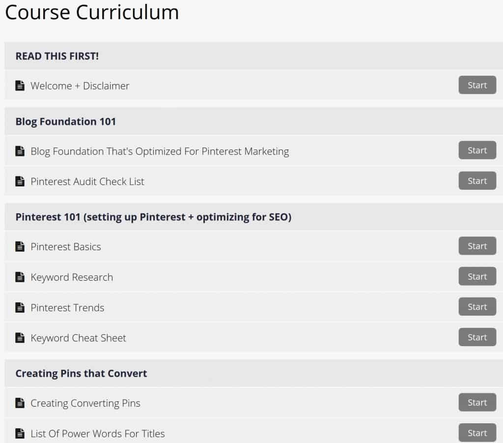Pinterest with Ell Course Curriculum