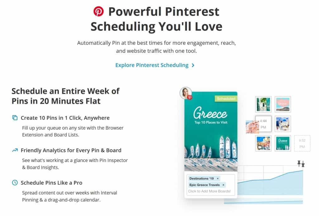 Tailwind Pinterest Scheduler Features