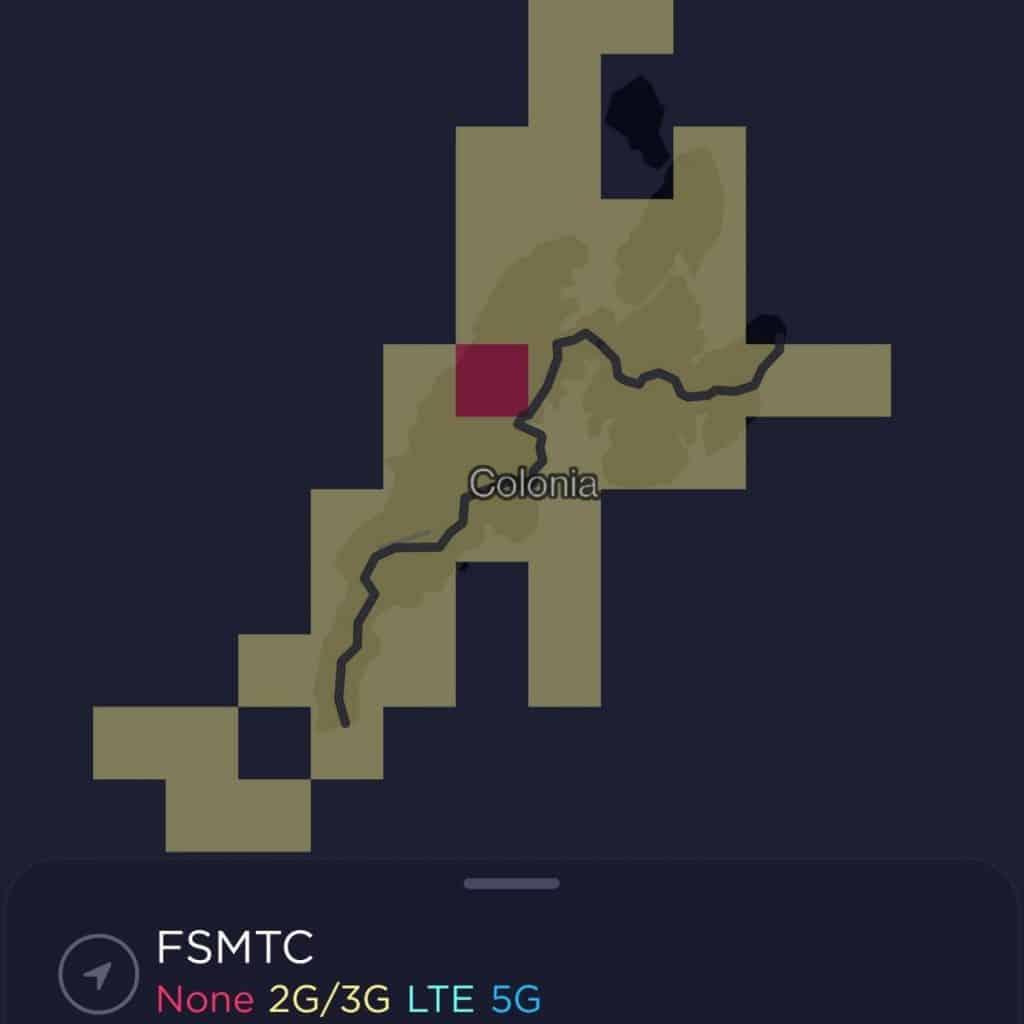 FSMTC Coverage Map on Yap