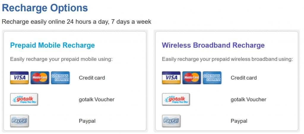 Gotalk online recharge methods