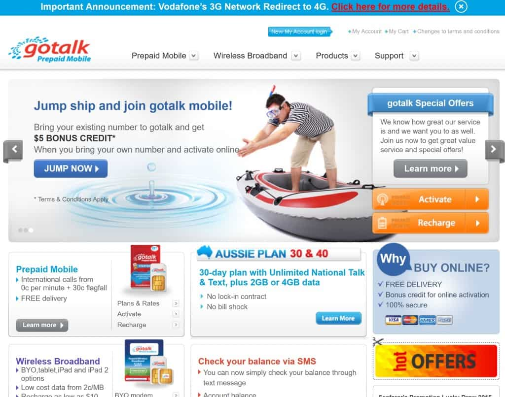Gotalk's Website in 2020