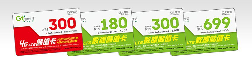 GT Mobile 4G LTE Top Up Cards