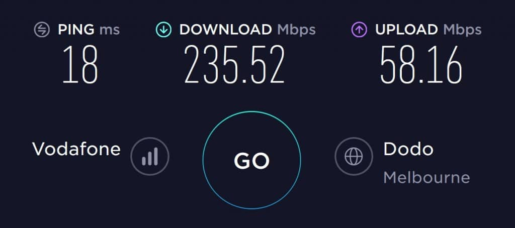 Gotalk Speed Test in South Melbourne