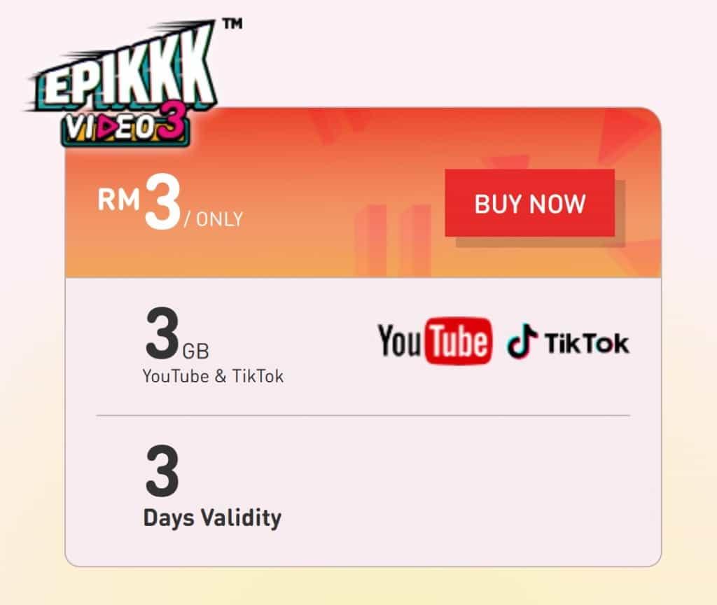 U Mobile EPIKKK Video3 Plan