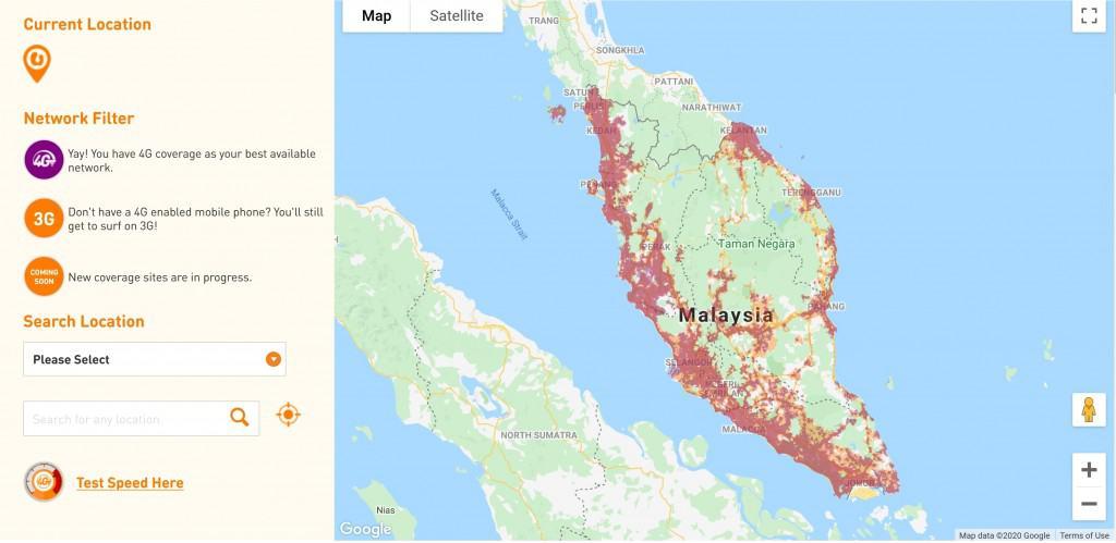 U Mobile Coverage Map