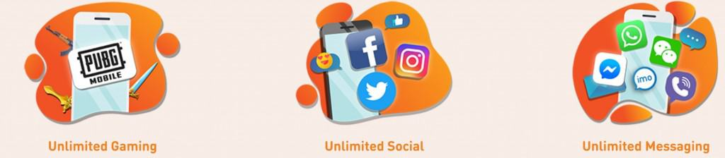 U Mobile UNLIMITED FUNZ Pack Unlimited Data Apps
