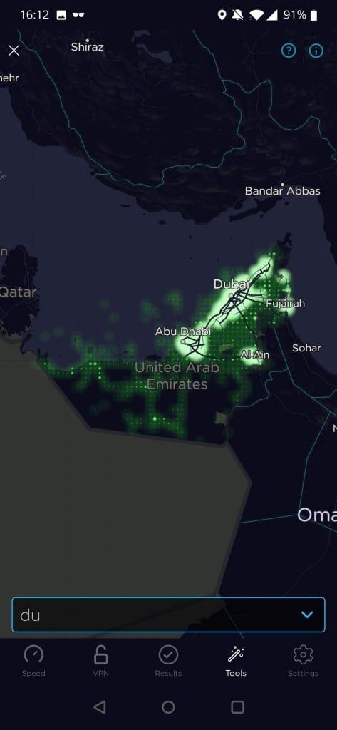 Du Coverage Map
