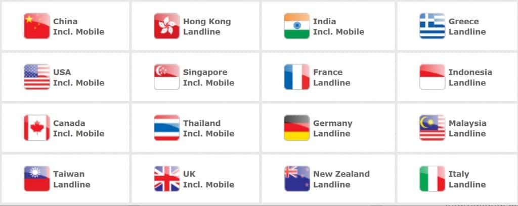 Hello Mobile Combo 10 International Destinations for international calls