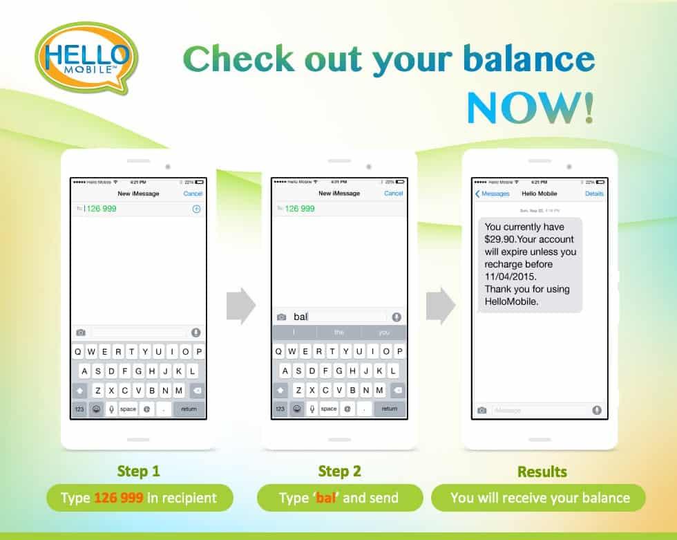 Hello Mobile Balance Check