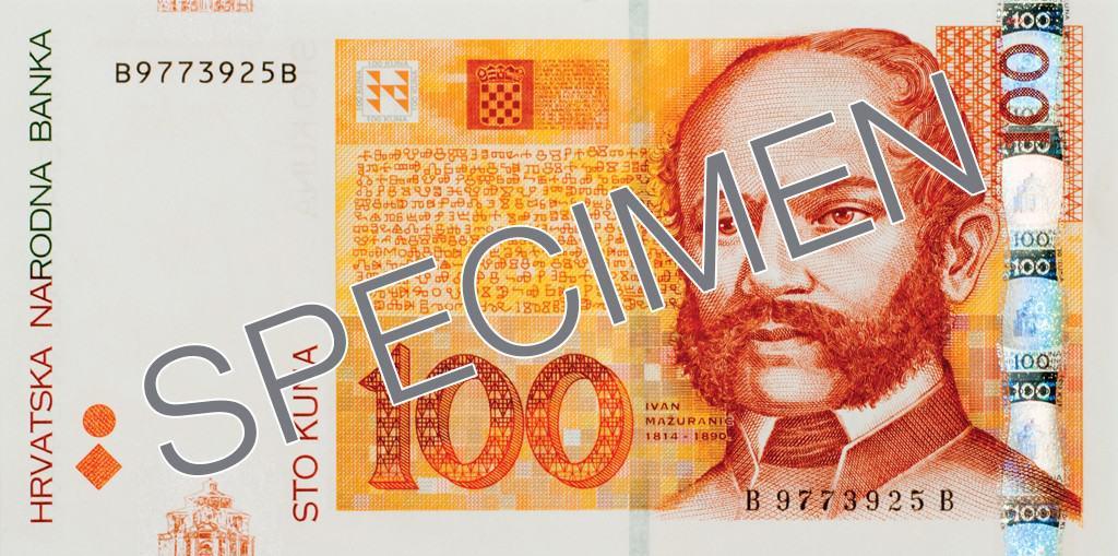 100 Croatian Kuna Banknote