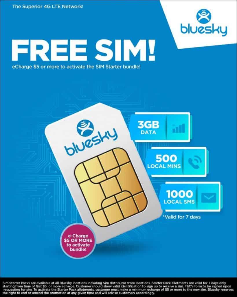 Blye Sky American Samoa New SIM Card Promo