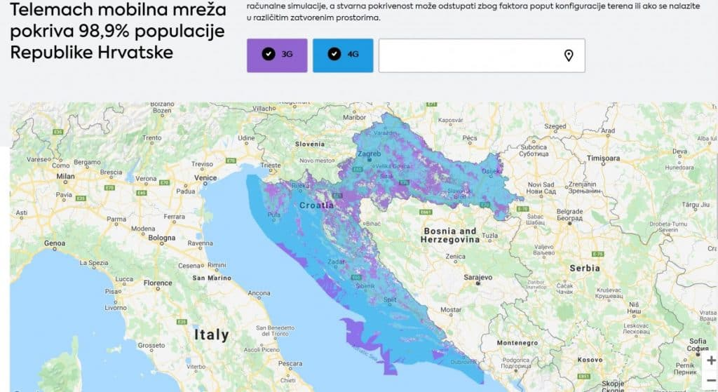 Telemach Coverage Map