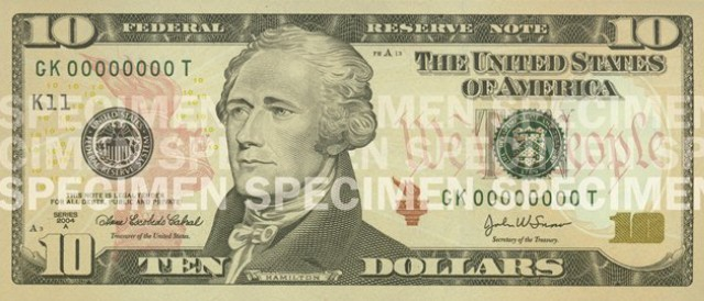 10 US Dollar Note