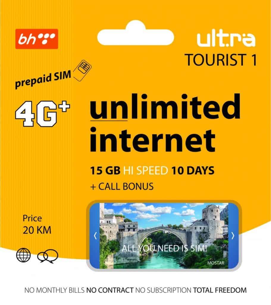 BH Telecom Ultra Tourist 1 SIM Card 1