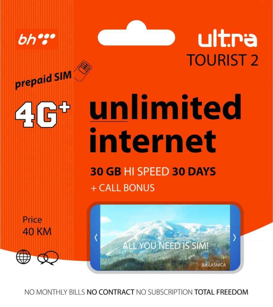 BH Telecom Ultra Tourist 2 SIM Card