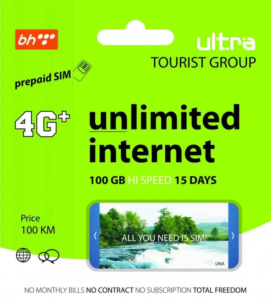BH Telecom Ultra Tourist Group Package