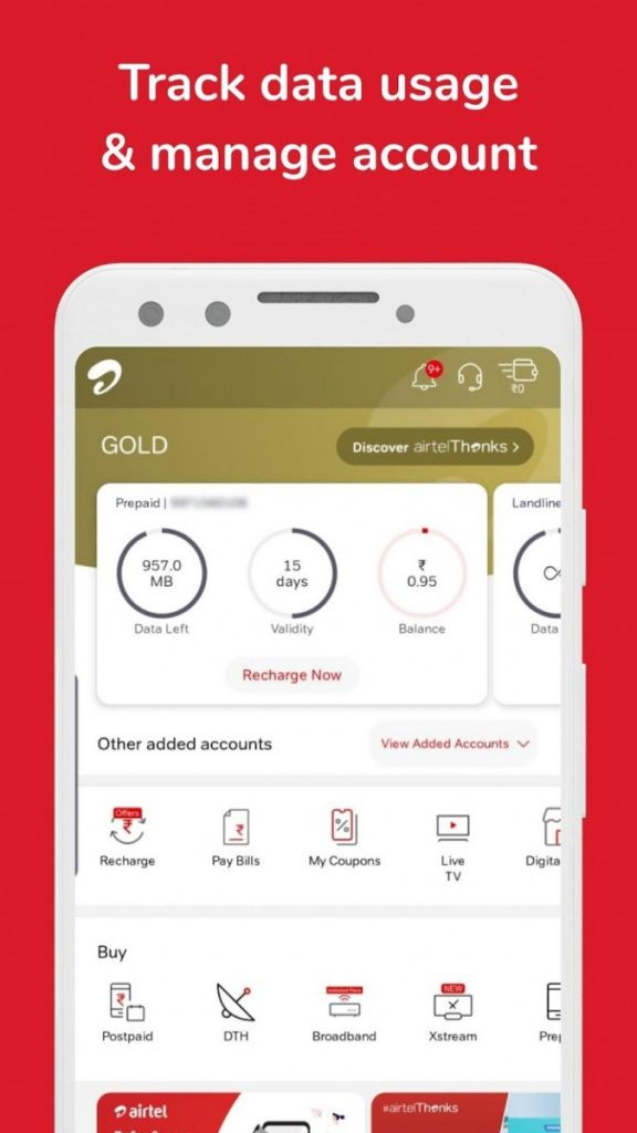 Airtel India Thanks App